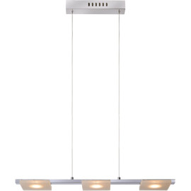 Suspension moderne plate led 3 points lumineux Ines