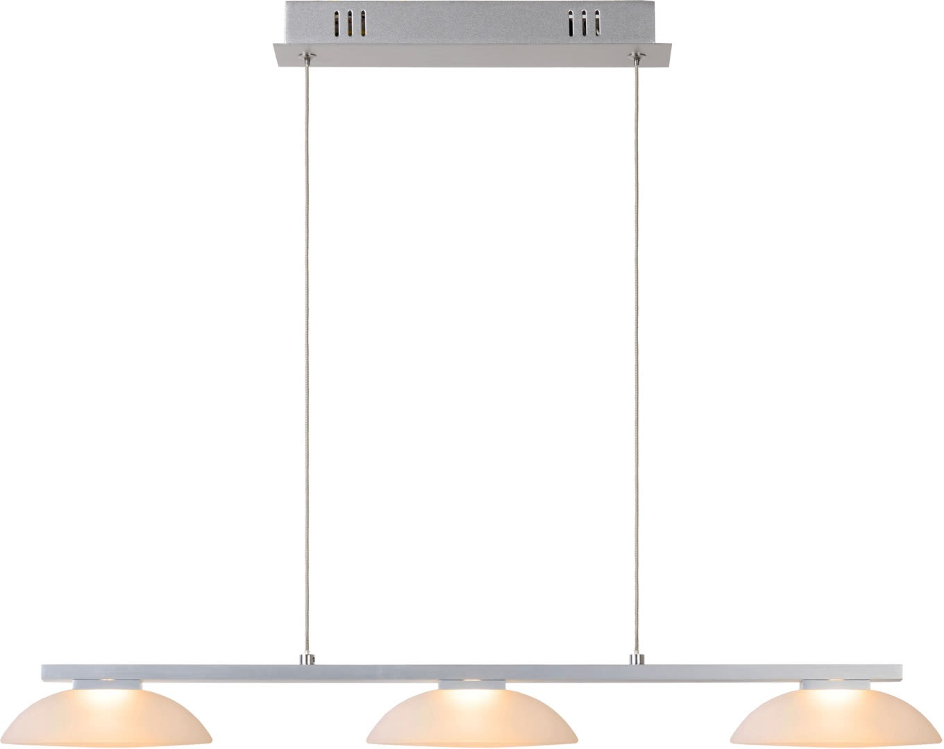 Suspension moderne led grise 3 points lumineux Birdy
