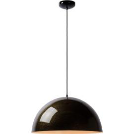 Suspension moderne en métal laqué noir avec motifs Delta