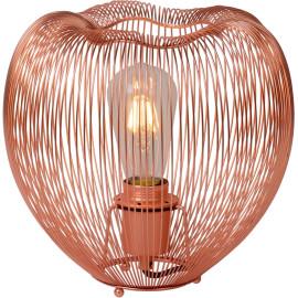 Lampe à poser design en métal cuivré rouge Ø 26 cm Nattie