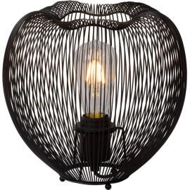 Lampe à poser design en métal noir Ø 26 cm Nattie