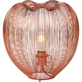 Lampe à poser design en métal cuivré rouge Ø 35 cm Nattie
