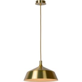 Suspension moderne en métal doré mat Ø 35 cm Guerda