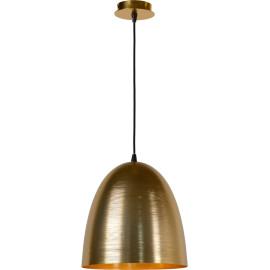 Suspension moderne en métal doré mat Ø 30 cm Avoria
