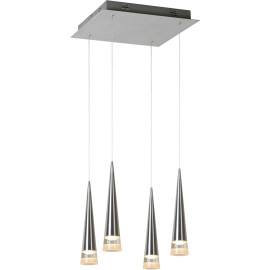 Suspension contemporaine carrée led Mistik