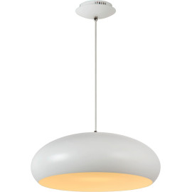 Suspension vintage blanche demi-boule Ø38 cm led Vista