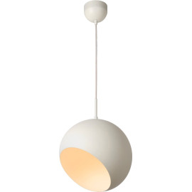 Suspension boule design led en métal blanc Ball
