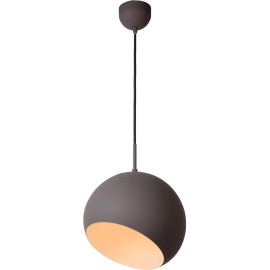 Suspension boule design led en métal gris Ball