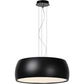 Suspension moderne en métal et acrylique noir Kahina