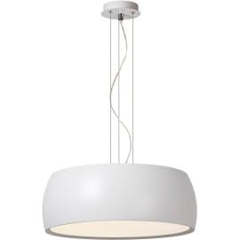 Suspension moderne en métal et acrylique blanc Kahina