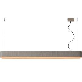 Suspension classique led en bois gris verni Spirit
