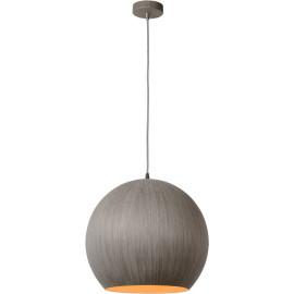 Suspension moderne boule Ø 40 cm en bois gris Catherine