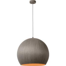 Suspension moderne boule Ø 50 cm en bois gris Catherine