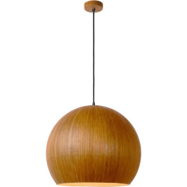Suspension moderne boule Ø 50 cm en bois clair Catherine