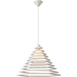 Suspension design hexagonale blanche Futura