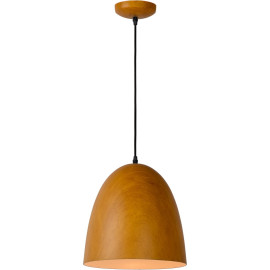 Suspension en métal vintage ovale bois foncé Juliana