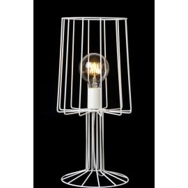 Lampe de table design en métal blanc hauteur 50 cm Marina