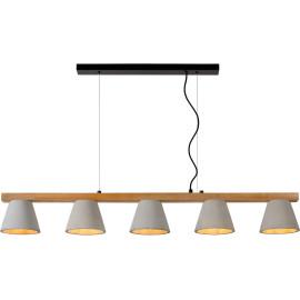 Suspension moderne en bois et en béton Manilva