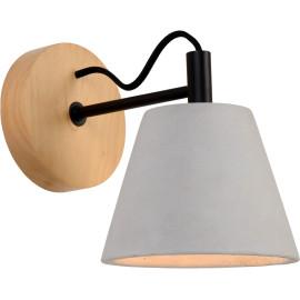 Applique moderne en bois et en béton Manilva