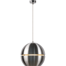 Suspension design en aluminium sphère chromée Ø 30 cm Terria