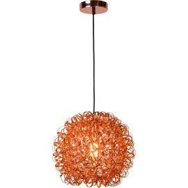 Suspension moderne boule cuivre Marguerite