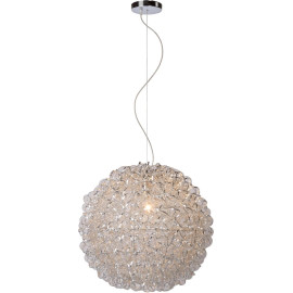 Suspension boule moderne chromée Eglantine