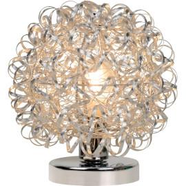 Lampe à poser moderne boule argentée Marguerite