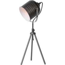 Lampe à poser design en métal gris foncé Cisco