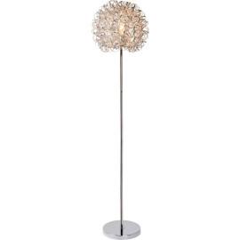 Lampadaire moderne boule argentée Marguerite