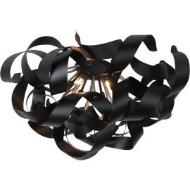 Plafonnier moderne led en aluminium noir Alta