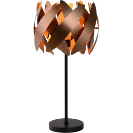 Lampe de table design cuivre satiné Paillossa