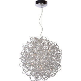 Suspension design led en aluminium gris Ø 50 cm Zoe