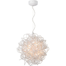 Suspension design led en aluminium blanc Ø 50 cm Zoe