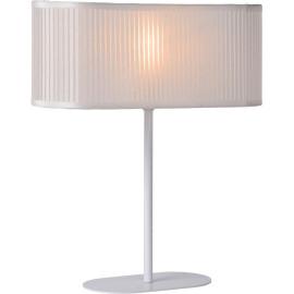 Lampe de table vintage en fer et pvc blanc Malibu