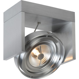 Spot design orientable led 1 spot en métal gris Milor