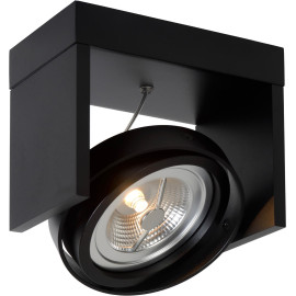 Spot design orientable led 1 spot en métal noir Milor