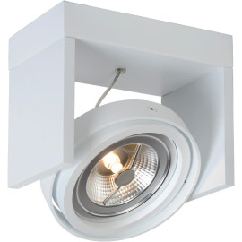 Spot design orientable led 1 spot en métal blanc Milor