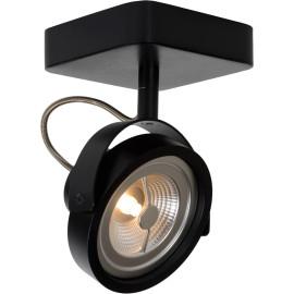 Spot industriel orientable en aluminium noir 1 spot Tino