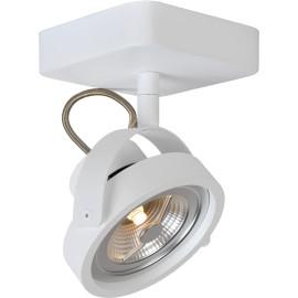 Spot industriel orientable en aluminium blanc 1 spot Tino