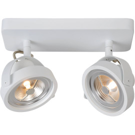 Spot industriel orientable en aluminium blanc 2 spots Tino