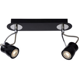 Spot led design noir 2 spots Eleanora