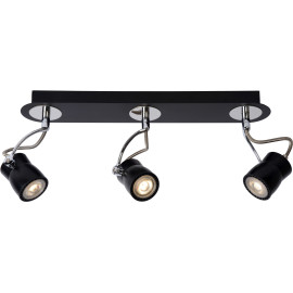 Spot led design noir 3 spots Eleanora