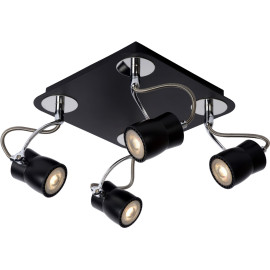 Spot led design noir 4 spots Eleanora