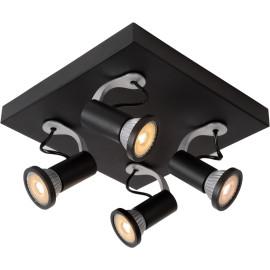 Spot contemporain noir led 4 spots Yliana