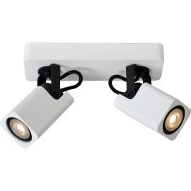 Spot design led blanc 2 spots Liminea