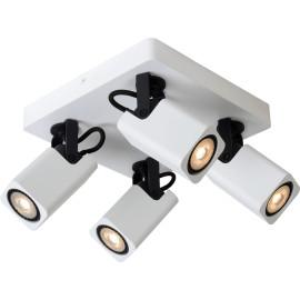 Spot design led blanc 4 spots Liminea