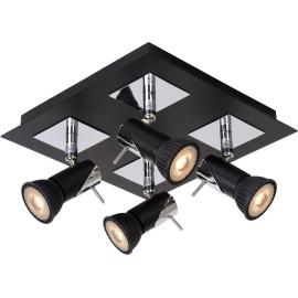 Plafonnier led design noir 4 spots Nimea