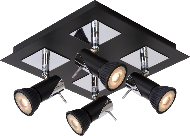 plafonnier led design noir 4 spots nimea. Black Bedroom Furniture Sets. Home Design Ideas
