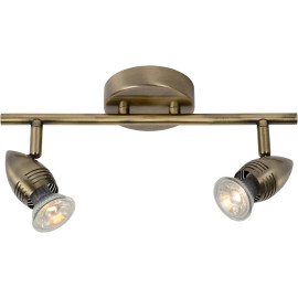 Applique vintage led 2 spots bronze Cecilia