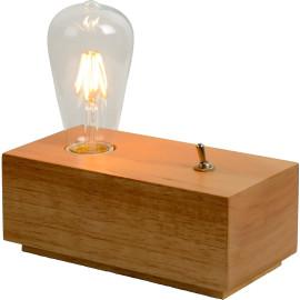 Lampe à poser moderne en bois Fabio